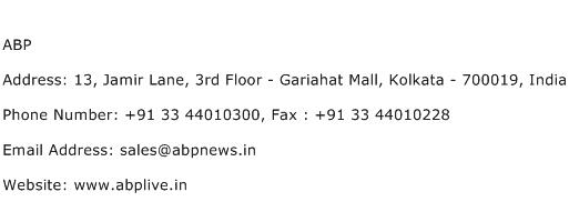 ABP Address Contact Number