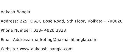 Aakash Bangla Address Contact Number