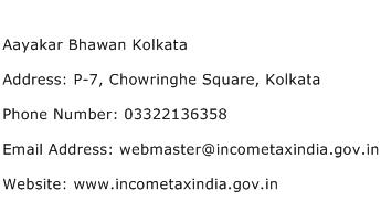 Aayakar Bhawan Kolkata Address Contact Number
