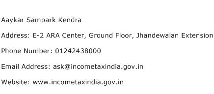 Aaykar Sampark Kendra Address Contact Number