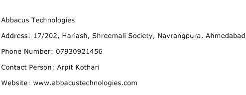 Abbacus Technologies Address Contact Number
