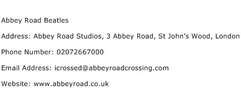 Abbey Road Beatles Address Contact Number