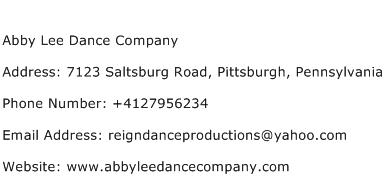 Abby Lee Dance Company Address, Contact Number of Abby Lee ...
