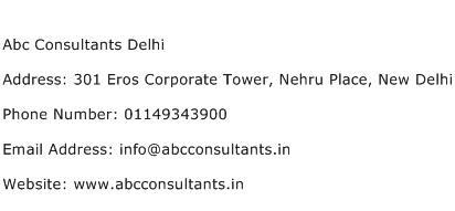 Abc Consultants Delhi Address Contact Number