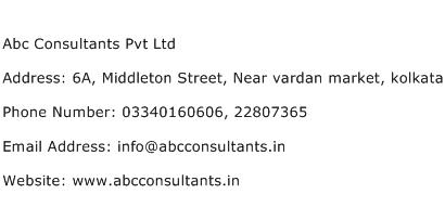 Abc Consultants Pvt Ltd Address Contact Number