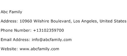 Abc Family Address Contact Number