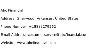 Abc Financial Address Contact Number