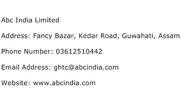 Abc India Limited Address Contact Number