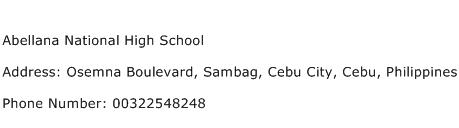 Abellana National High School Address Contact Number