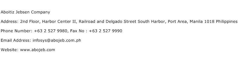 Aboitiz Jebsen Company Address Contact Number