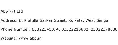 Abp Pvt Ltd Address Contact Number