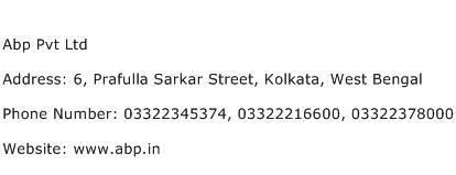 Abp Pvt Ltd Address Contact Number