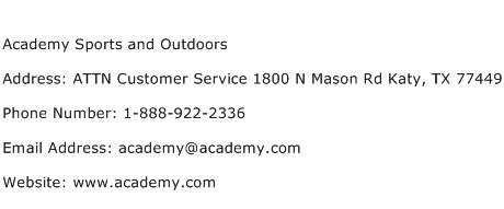 Academy Sports and Outdoors Address Contact Number