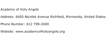 Academy of Holy Angels Address Contact Number
