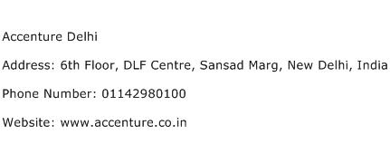 Accenture Delhi Address Contact Number