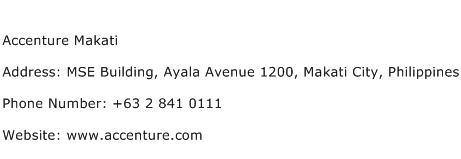 Accenture Makati Address Contact Number