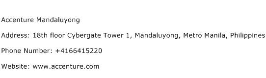 Accenture Mandaluyong Address Contact Number