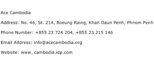 Ace Cambodia Address Contact Number