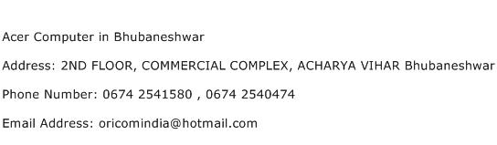 Acer Computer in Bhubaneshwar Address Contact Number