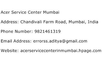 Acer Service Center Mumbai Address Contact Number