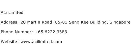 Aci Limited Address Contact Number