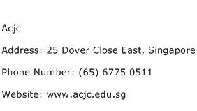 Acjc Address Contact Number