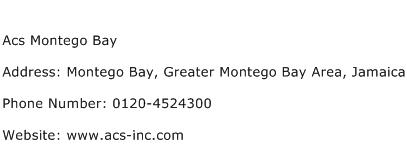 Acs Montego Bay Address Contact Number