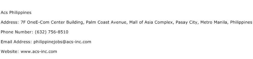 Acs Philippines Address Contact Number