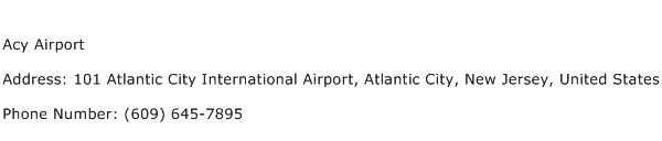 Acy Airport Address Contact Number