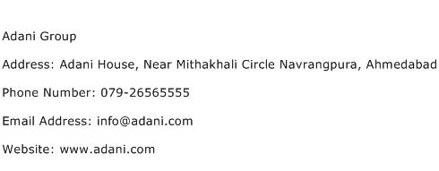 Adani Group Address Contact Number