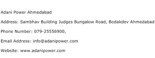 Adani Power Ahmedabad Address Contact Number
