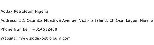 Addax Petroleum Nigeria Address Contact Number