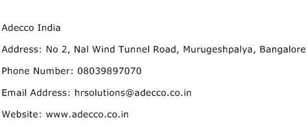 Adecco India Address Contact Number