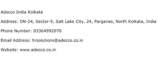 Adecco India Kolkata Address Contact Number