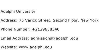 Adelphi University Address Contact Number