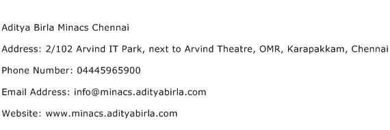 Aditya Birla Minacs Chennai Address Contact Number
