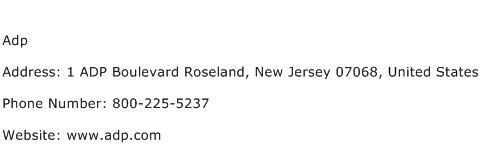 Adp Address Contact Number