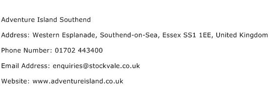 Adventure Island Southend Address Contact Number