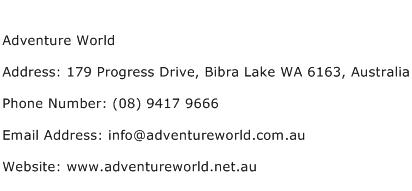 Adventure World Address Contact Number
