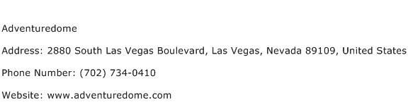 Adventuredome Address Contact Number