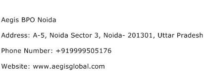 Aegis BPO Noida Address Contact Number