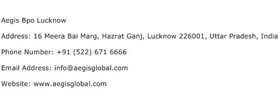 Aegis Bpo Lucknow Address Contact Number