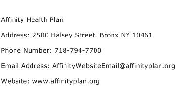 Affinity Health Plan Address Contact Number