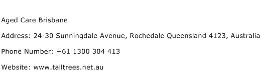 Aged Care Brisbane Address Contact Number