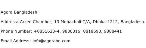 Agora Bangladesh Address Contact Number