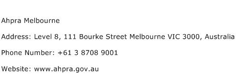 Ahpra Melbourne Address Contact Number