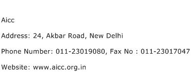 Aicc Address Contact Number
