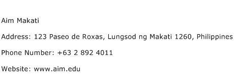 Aim Makati Address Contact Number