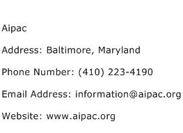 Aipac Address Contact Number