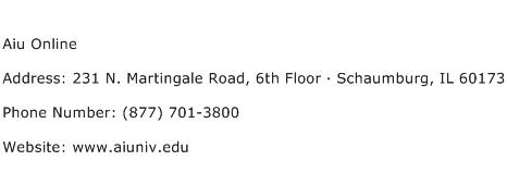 Aiu Online Address Contact Number
